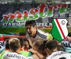 Legia Warschau, de kampioen van de Poolse voetbalcompetitie Ekstraklasa 2013-2014