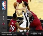 2014 NBA finale, 1ste wedstrijd, Miami Heat 95 - San Antonio Spurs 110