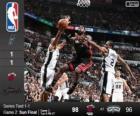 2014 NBA de finale, 2e wedstrijd, Miami Heat 98 - San Antonio Spurs 96