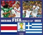 Costa Rica - Griekenland, achtste finale, Brazilië 2014