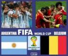 Argentinië - België, kwartfinales, Brazilië 2014