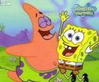 SpongeBob en Patrick erg blij