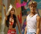 Barbie en Ken in de zomer