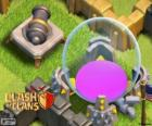 Elixer opslag en canon. (level 10 en 7), Clash van Clans