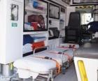 Binnen een ambulance
