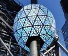 De bal van het Nieuwjaar, Times Square, Manhattan, New York