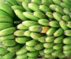 Groene en gele bananen