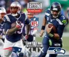 Super Bowl 2015. New England Patriots vs. Seattle Seahawks. Stadion van de Universiteit van Phoenix, Glendale, Arizona, 1 februari 2015