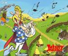 Kakofonix zingen en spelen zijn lyre, hij beschouwt zichzelf als een genie en een uitstekende zanger