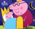 Peppa Pig in zijn bed