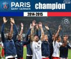 PSG, kampioen 2014-2015