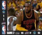 2015 NBA de finale, spel 2, Cleveland Cavaliers 95 - Golden State Warriors 93