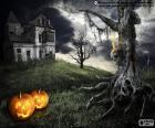Een enge spookhuis
