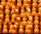 Kerstmis aangestoken kaarsen