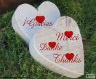 Twee harten van hout