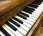 Klassieke piano toetsen