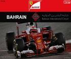 Kimi Räikkönen, tweede in de Grand Prix van Bahrein 2016 met zijn Ferrari