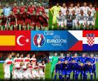 Groep D van de Euro 2016 wordt gevormd door selecties uit Spanje, Tsjechië, Turkije en Kroatië