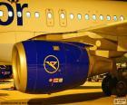 Een vliegtuigmotor