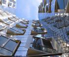 De gevel van een modern gebouw