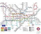 Kaart van de metro in Londen