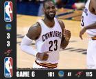 2016 NBA de finale, spel 6, Golden State Warriors 101 - Cleveland Cavaliers 115