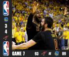 2016 NBA de finale, spel 6, Cleveland Cavaliers 93 - Golden State Warriors 89. Cleveland Cavaliers kampioenen door 4-3