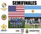 Halve finale van de Copa América Centenario 2016, USA vs Argentinië