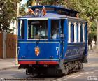 Blauwe tram, Barcelona