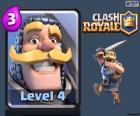 Kaart van de ridder, een harde vechter melee, Clash Royale