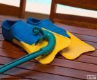 Snorkel en scuba flippers