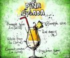 Puzzel waar zul je de ingrediënten en hoeveelheden voor het voorbereiden van een Piña Colada