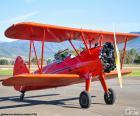 Rode dubbeldekker-vliegtuigen