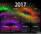 Kalender 2017, gelukkig Nieuwjaar