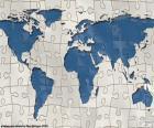 De wereld kaart puzzel