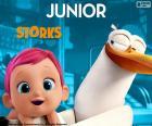 Junior, de protagonist van de ooievaar