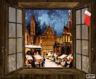 Kerstmarkt, venster