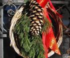 Rustieke kerst krans
