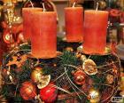 Vier kaarsen in een centrum