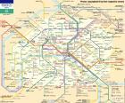 Kaart van de Parijse metro