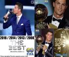 Cristiano Ronaldo, de beste FIFA mannen speler, zijn vierde award (2016, 2014, 2013, 2008)