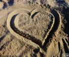 Hart op het strand