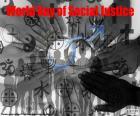 Internationale Dag van de Sociale Rechtvaardigheid, 20 februari. Voor sociale rechtvaardigheid wanneer we de belemmeringen die mensen gezicht op grond van geslacht, leeftijd, ras, etniciteit, religie, cultuur of handicap