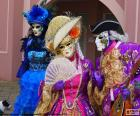 Venetiaanse klassieke kostuum