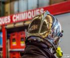 Verchroomd brandweerman helm