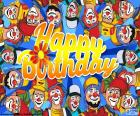 Happy Birthday met clowns