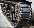 Foto van het leger tanks tractie kettingen