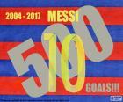 Leo Messi 500 doelen met het shirt van Barcelona, vanaf het seizoen 2004/2005 tot de 2016/2017. Gefeliciteerd!