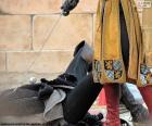 Duel tussen middeleeuwse ridders