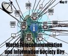 Wereld telecommunicatie en informatie samenleving dag